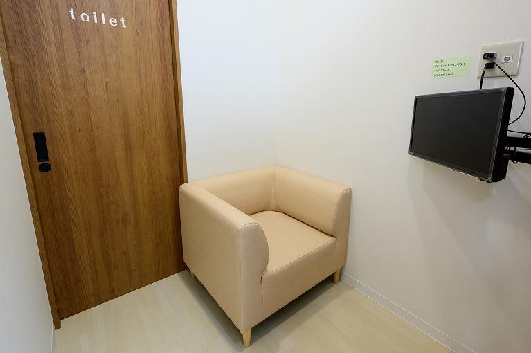 プライバシーに配慮した専用トイレ付個室
